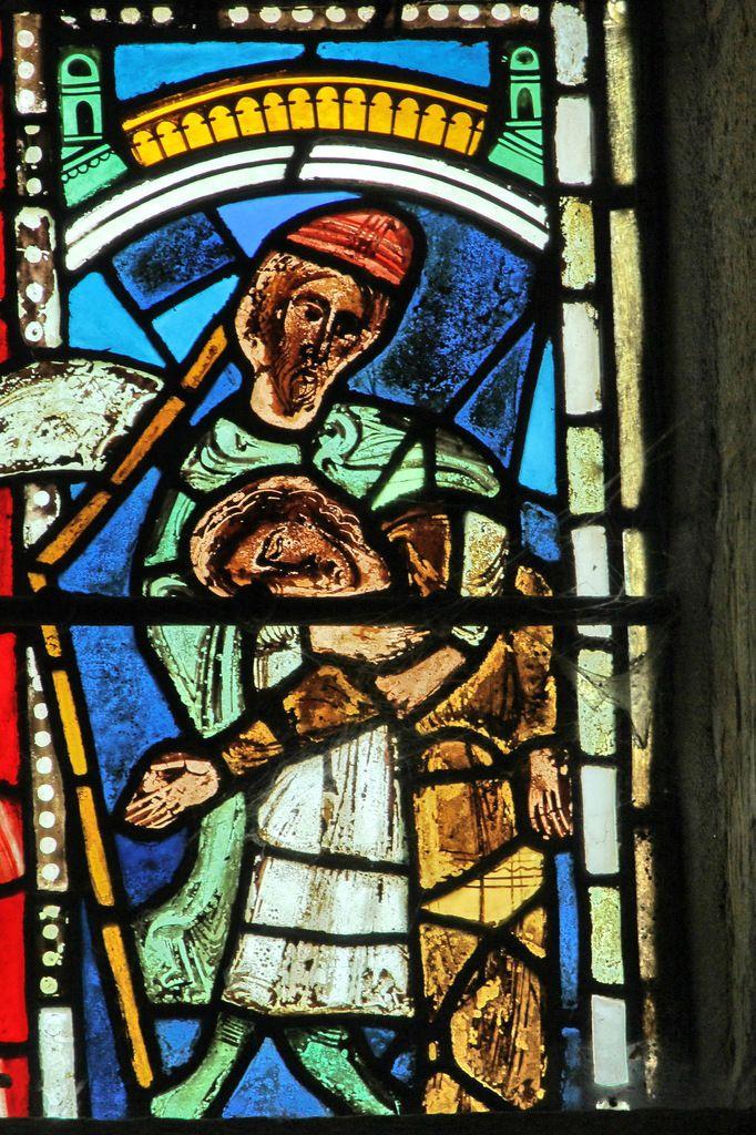 Baie XV : la Synagogue soutenue par un prophète ou un Patriarche (v.1200)