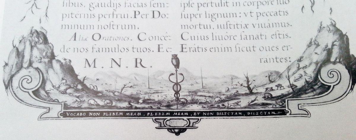 Missale Romanum, folio 332 (détail) Vienne, Österreichische Nationalbibliothek,  image  in Vignau-Wilberg (1969).