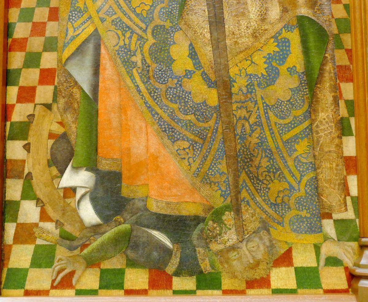 Sainte Catherine d'Alexandrie, Retable du chapitre de l'église San Benito de Calatrava (vers 1480),  Musée des Beaux-Arts de Séville, photo lavieb-aile.