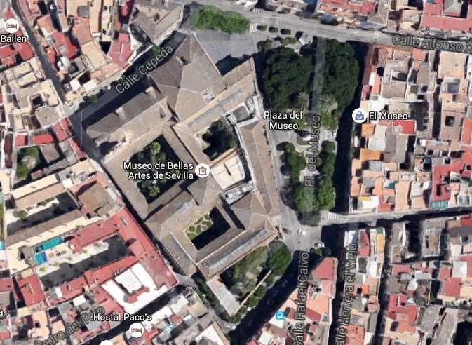 Musée des Beaux-Arts de Séville, image Maps Google.