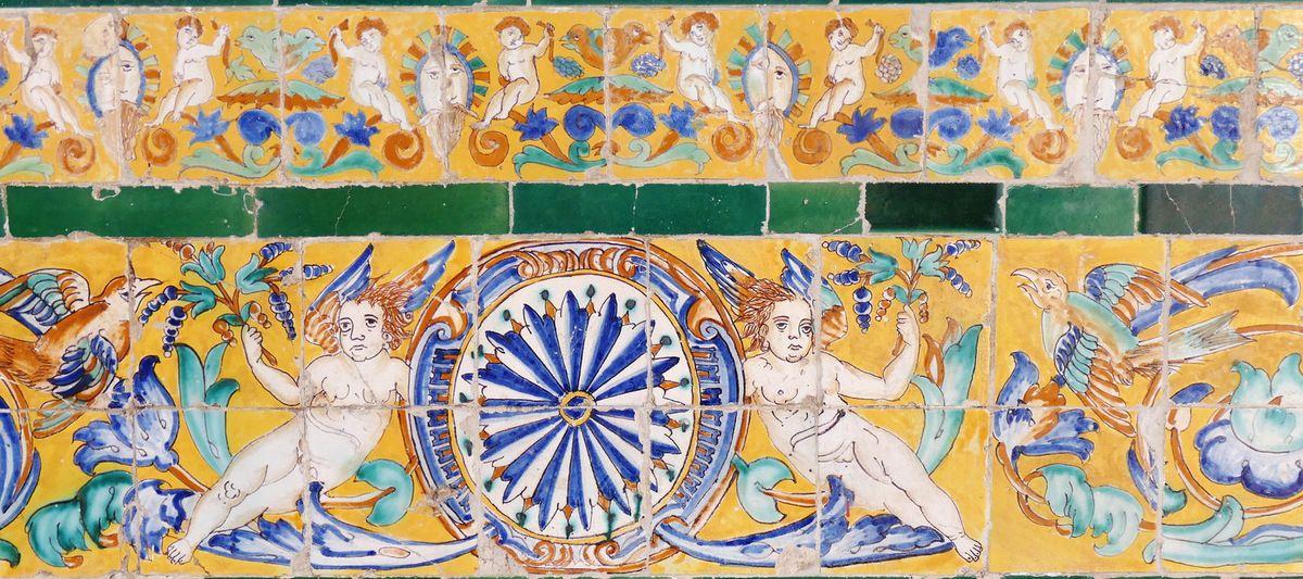 Azulejos, Musée des Beaux-Arts, Séville. Photo lavieb-aile.