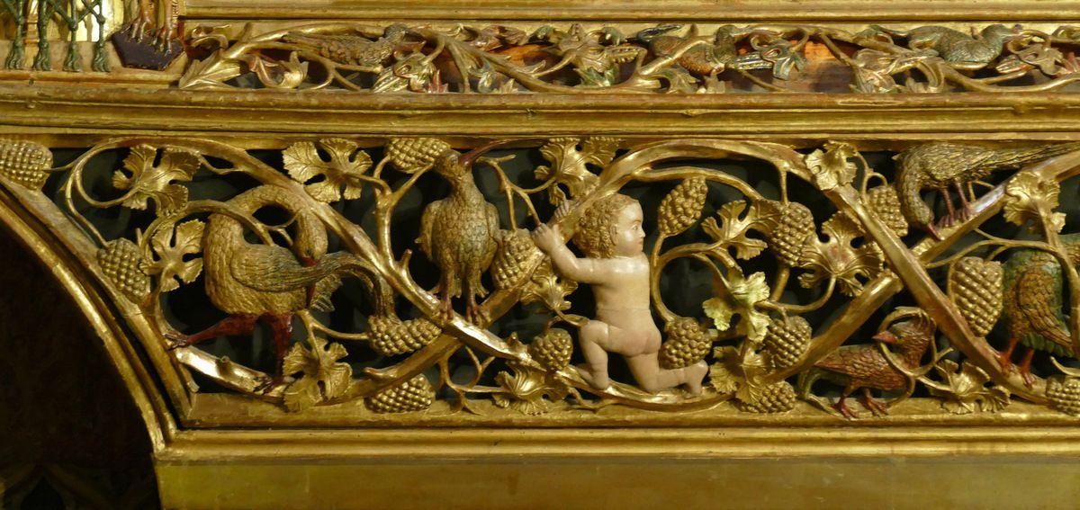 Détail du Retable de l'Arbre de Jessé , Chapelle Sainte-Anne, cathédrale de Burgos, photo lavieb-aile
