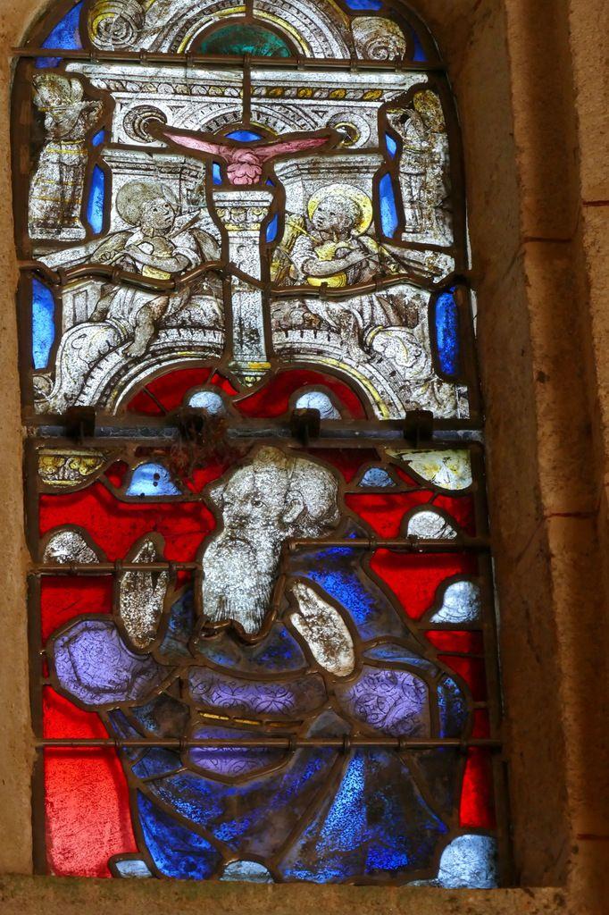 Elie, Christ transfiguré,  Baie 2 , Verrière de la Transfiguration, Chapelle Sainte-Barbe, Le Faouët, photographie lavieb-aile.