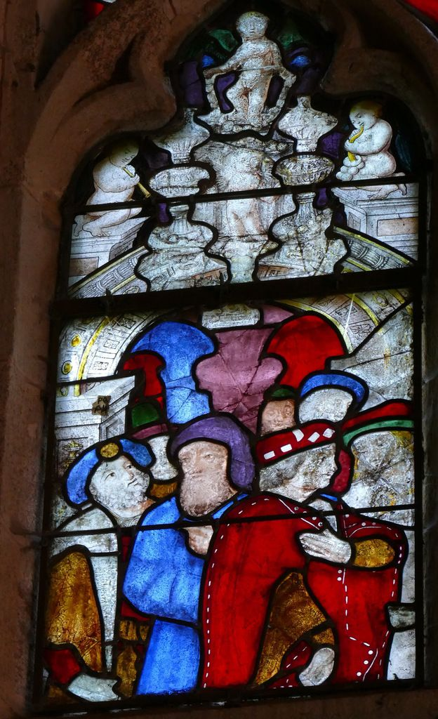 Lancette A, Baie 3, Transept nord, chapelle Sainte-Barbe, Le Faouët, photographie lavieb-aile.