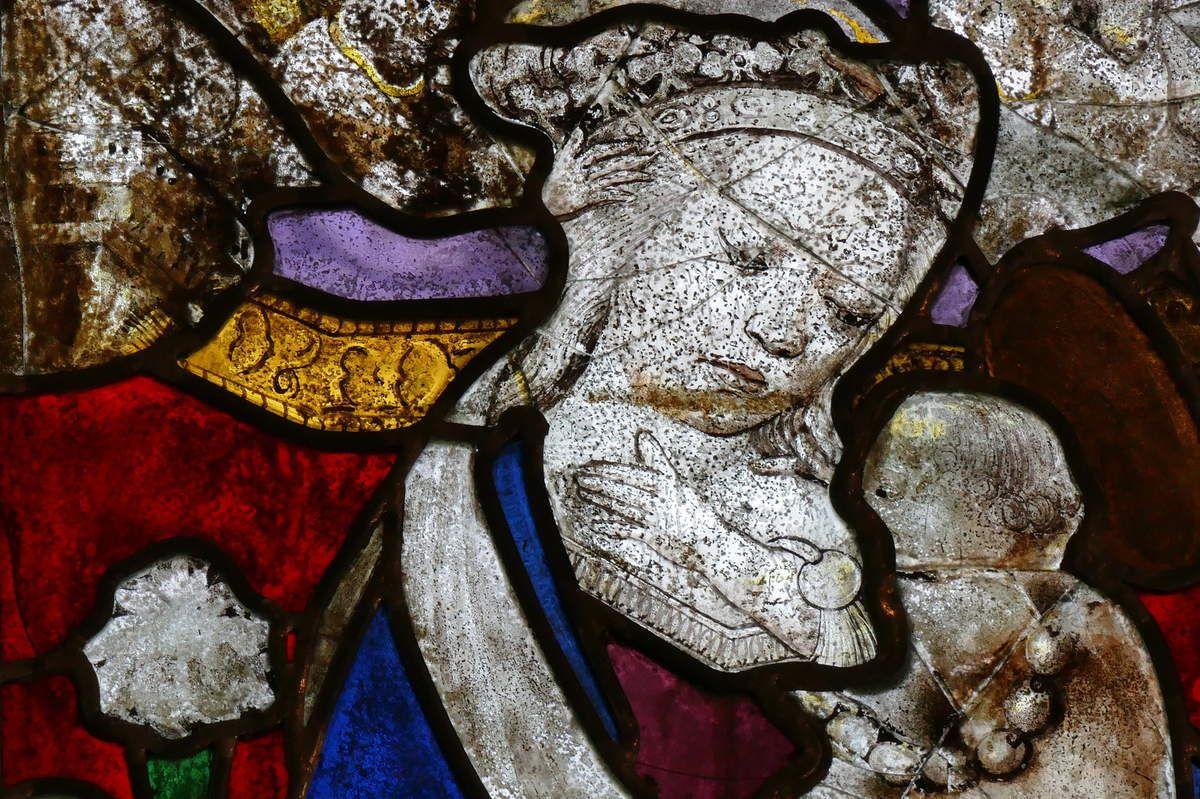 Lancette B, Baie 3, Transept nord, chapelle Sainte-Barbe, Le Faouët, photographie lavieb-aile.