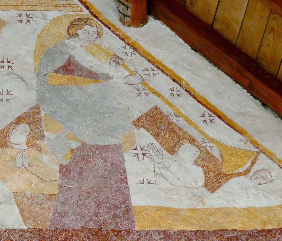 Jugement Dernier, registre inférieur, Chapelle de Locmaria er Hoët, Landévant. Photographie lavieb-aile.