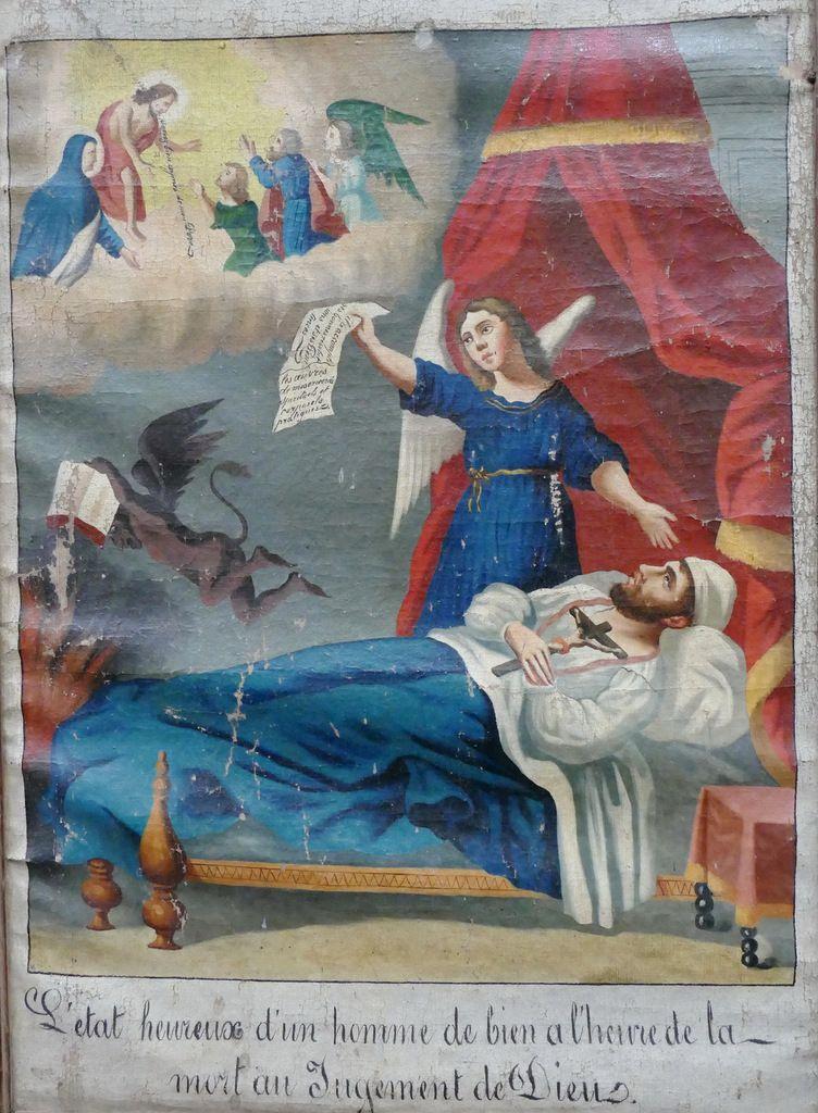 7. La mort du pêcheur : Douze tableaux de mission de l'évêché de Quimper ; la série de Plouguerneau 1., photographie lavieb-aile