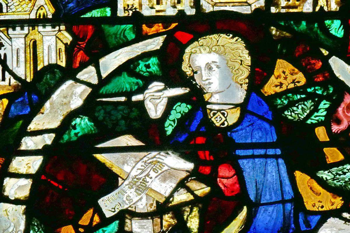 Saint Jean l'évangéliste à Patmos, Baie 12, cathédrale de Beauvais, photographie lavieb-aile.