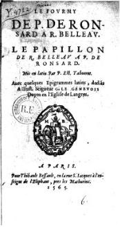 Le Papillon de R. Belleau in Tabourot 1565. Gallica.