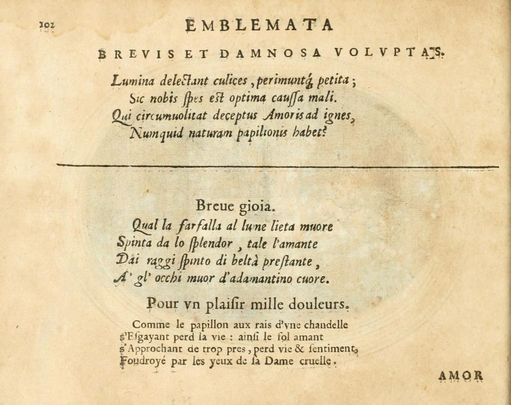 Otto van Veen, 1608,  Amorum emblemata page 103.