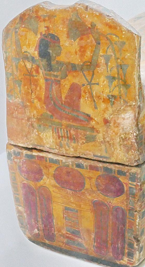 Pied du cercueil de la chanteuse d'Amon Hatshepsout , XXIe dynastie, Musée de Grenoble, photo lavieb-aile.