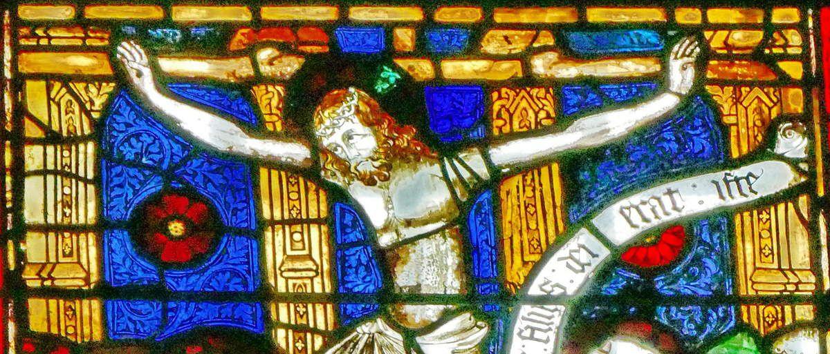 Crucifixion,  Baie 12, cathédrale de Beauvais, photographie lavieb-aile.