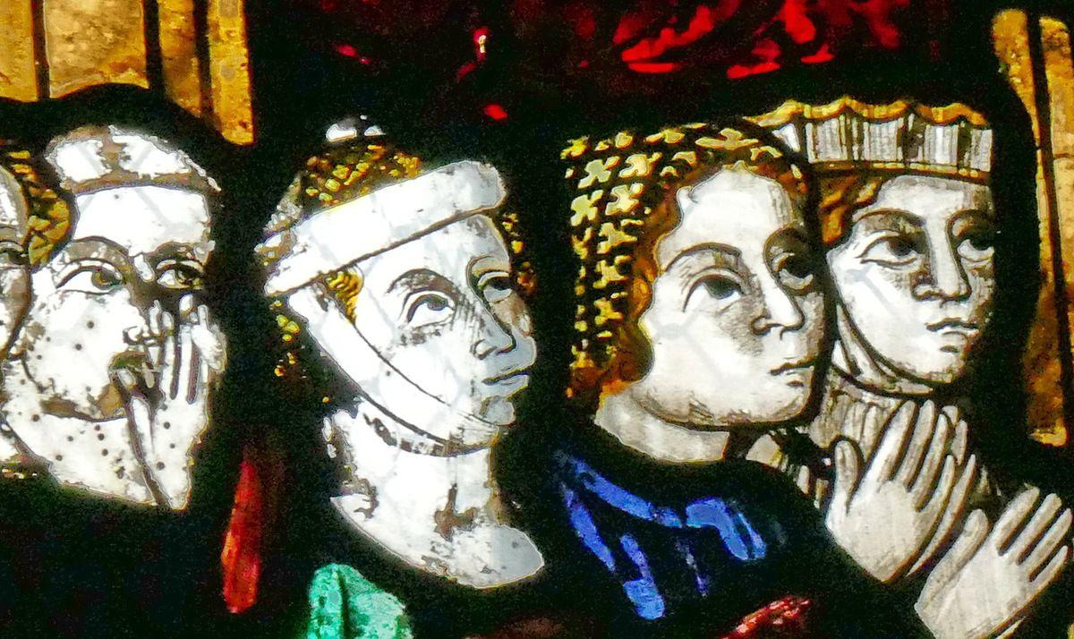Donateurs (détails)  Crucifixion,  Baie 12, cathédrale de Beauvais, photographie lavieb-aile.