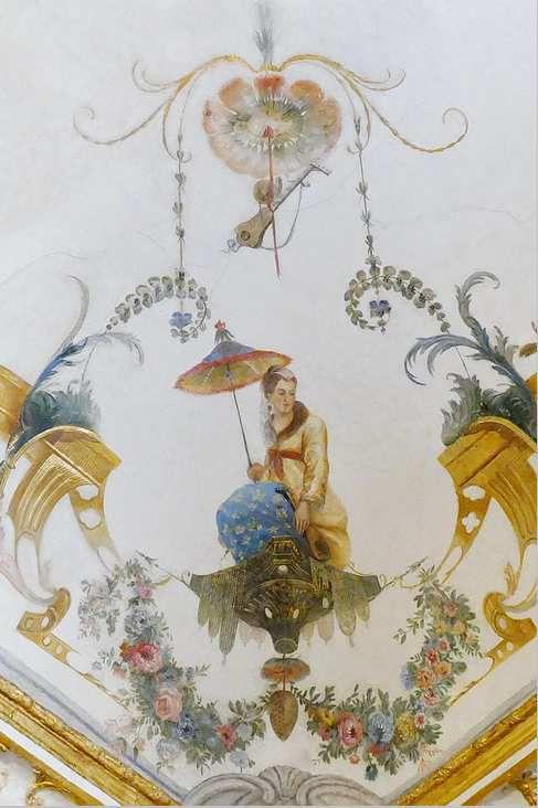 Plafond de la Grande Singerie,  château de Chantilly, photo lavieb-aile.