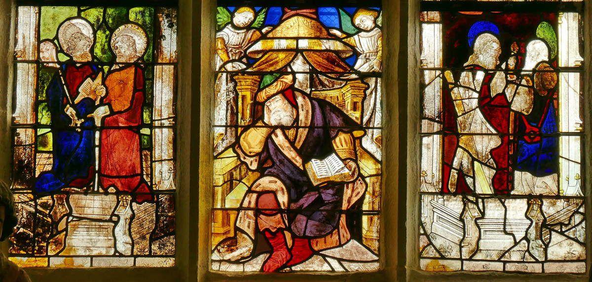 Registre inférieur, Arbre de Jessé, Baie 4, chapelle Saint-Fiacre, Le Faouët, photographie lavieb-aile.