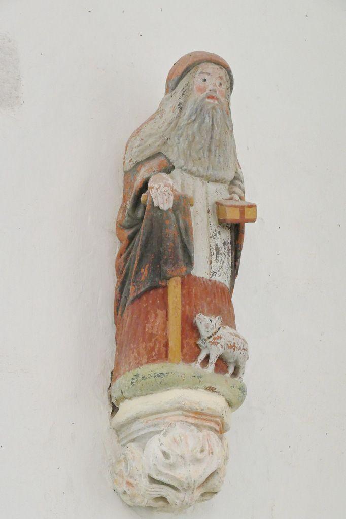 Saint Antoine,  chapelle saint-Fiacre, Le Faouët, photographie lavieb-aile.