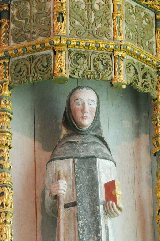 Niche et statue de saint Fiacre, chapelle saint-Fiacre, Le Faouët, photographie lavieb-aile.