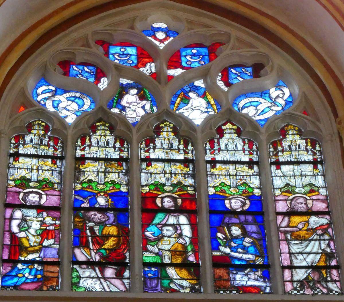 Baie n°128, troisième travée sud de la nef, cathédrale de Quimper, photographie lavieb-aile.
