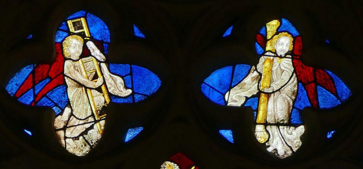 Tympan de la baie n°100, cathédrale de Quimper, photographie lavieb-aile.