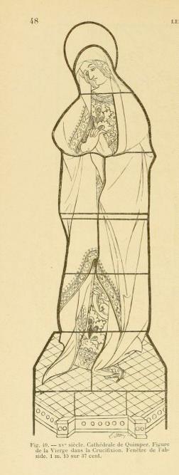 Calque tracé par Louis Ottin sur le vitrail de 1417, in Ottin 1896 figure 49.