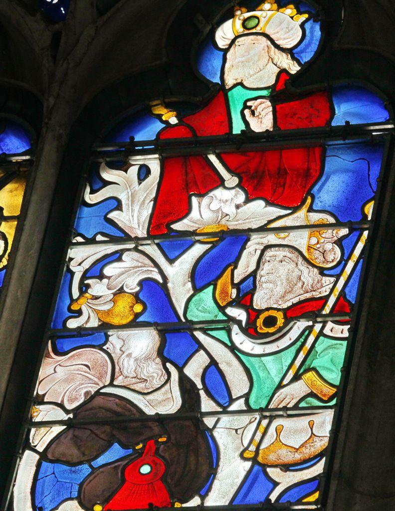 Baie 0 de l'Arbre de Jessé, (v. 1470), Chapelle de la Mère de Dieu, Cathédrale Notre-Dame d'Évreux, photographie lavieb-aile