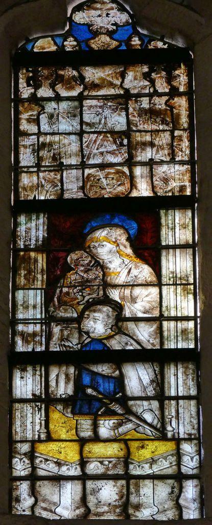 Lancette B, baie n°112, coté sud du chœur, cathédrale de Quimper, photo lavieb-aile.