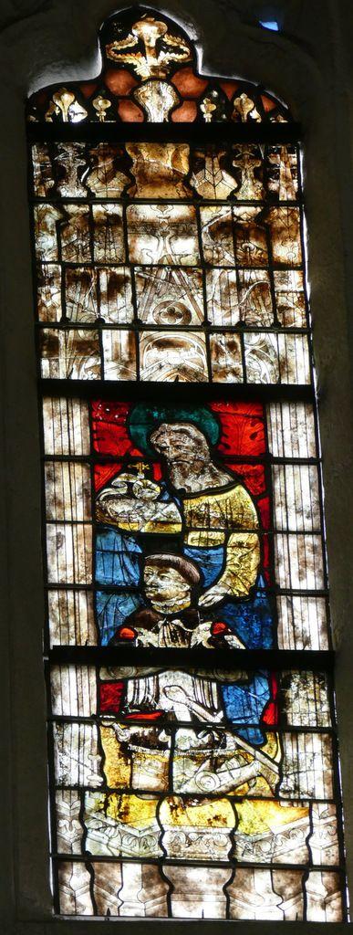 Lancette C, baie n°110, coté sud du chœur de la cathédrale de Quimper, photo lavieb-aile.