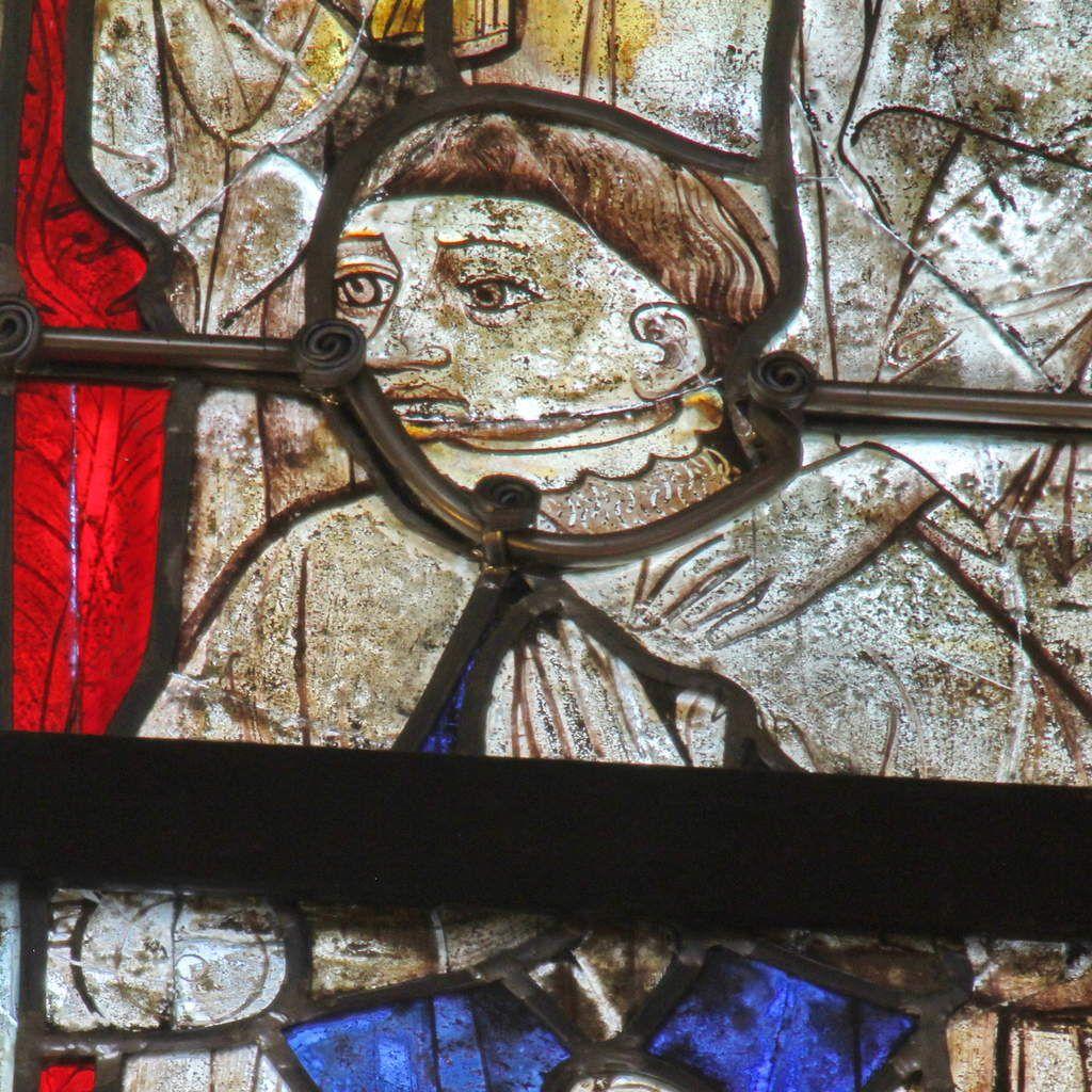 Lancette C, baie n°112, coté sud du chœur, cathédrale de Quimper, photo lavieb-aile.