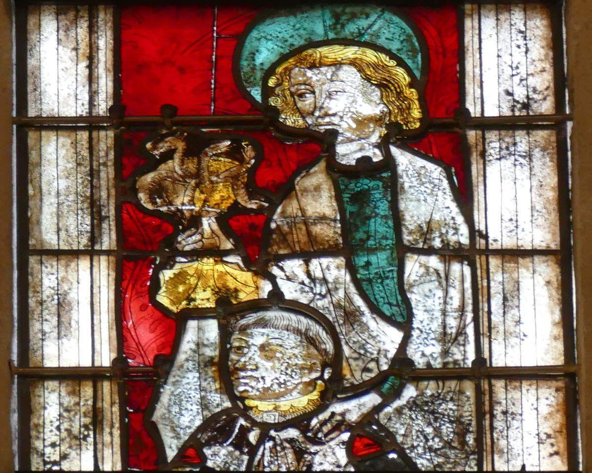 Lancette B, baie n°110, coté sud du chœur de la cathédrale de Quimper, photo lavieb-aile.