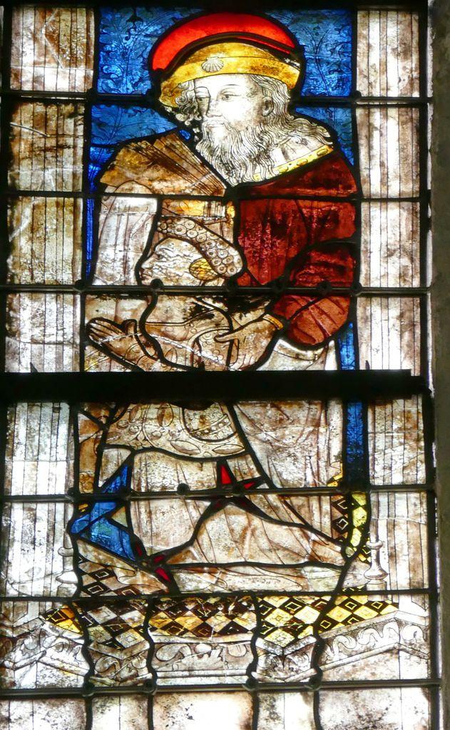 Lancette A, baie n°112, coté sud du chœur, cathédrale de Quimper, photo lavieb-aile.