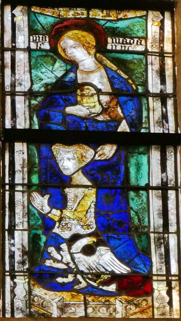 Lancette B, baie 106, chœur de la cathédrale de Quimper, photographie lavieb-aile.