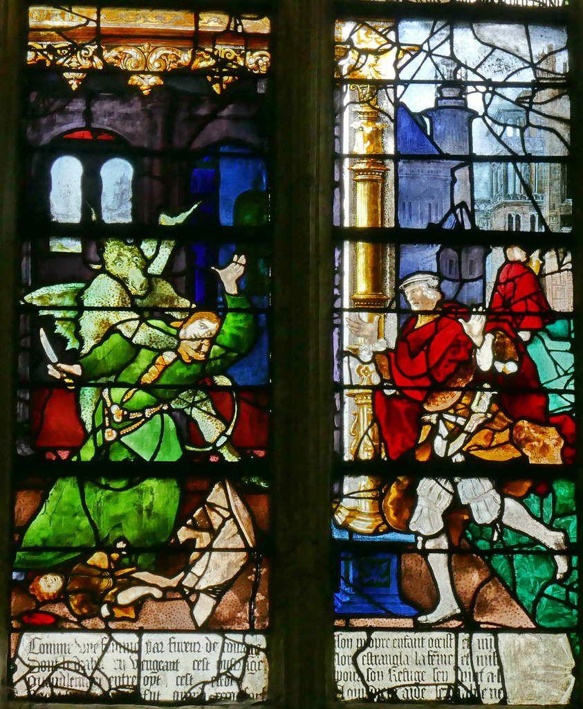Registre inférieur, baie n°9, église Saint-Étienne de Beauvais, photographie lavieb-aile.