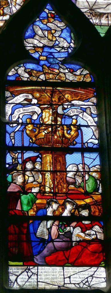Lancette B, Baie n°12, chapelle Saint-Nicolas, église Saint-Étienne, photographie lavieb-aile.