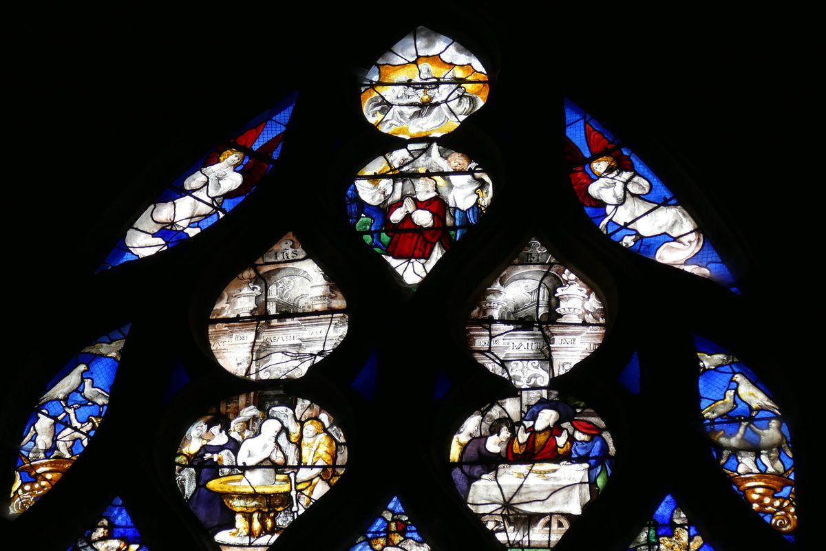 Tympan, Baie n°12, chapelle Saint-Nicolas, église Saint-Étienne, photographie lavieb-aile.