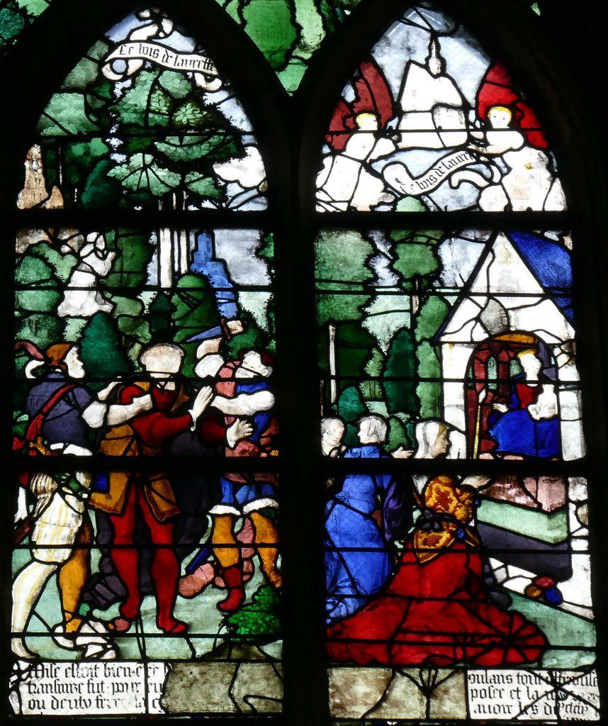 Baie C et D, registre supérieur, baie n°19, église Saint-Étienne de Beauvais, photographie lavieb-aile.