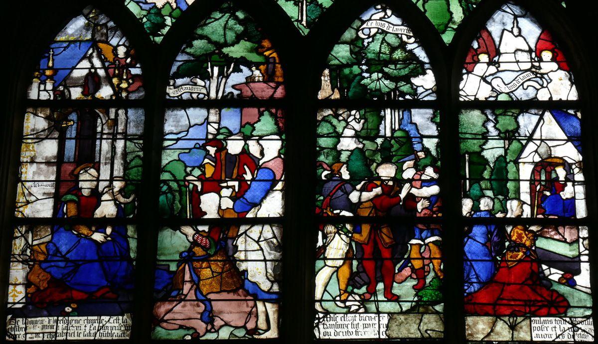 Registre supérieur, baie n°19, église Saint-Étienne de Beauvais, photographie lavieb-aile.