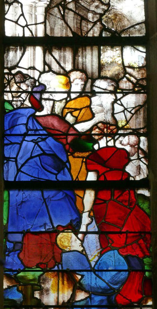 Lancette C , registre inférieur, baie n°19, église Saint-Étienne de Beauvais, photographie lavieb-aile.