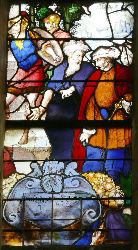 Lancette B, registre inférieur, baie n°19, église Saint-Étienne de Beauvais, photographie lavieb-aile.