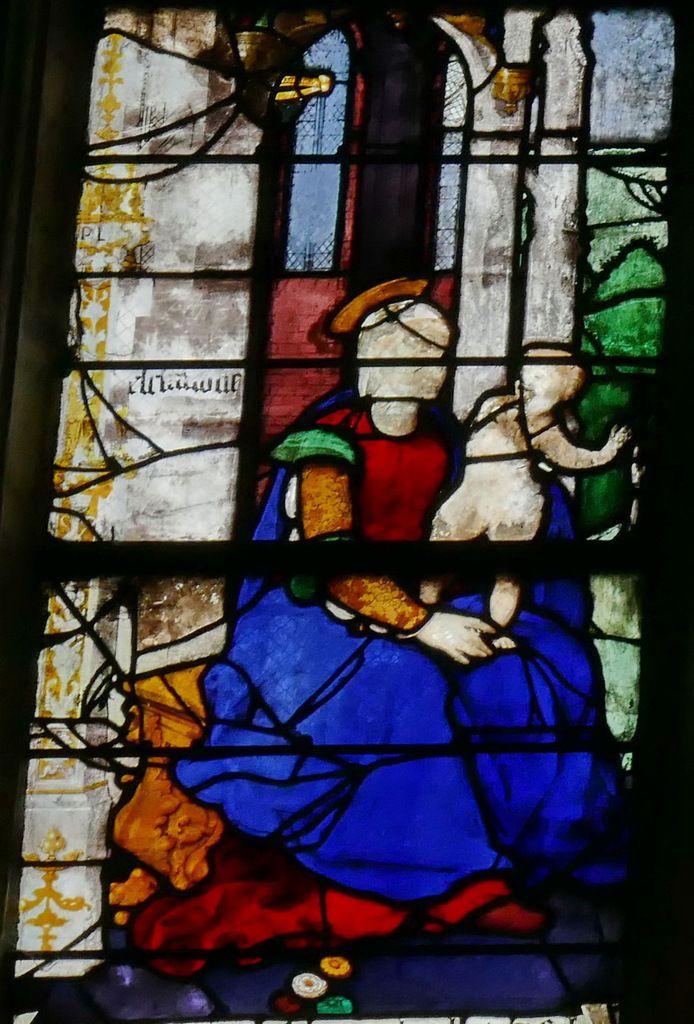 Baie A, registre supérieur, baie n°19, église Saint-Étienne de Beauvais, photographie lavieb-aile.