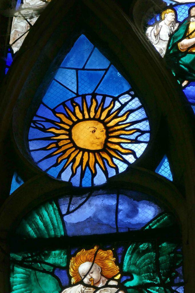 Tête de la lancette A, baie n°6 du Jugement Dernier, église Saint-Étienne de Beauvais, photographie lavieb-aile.