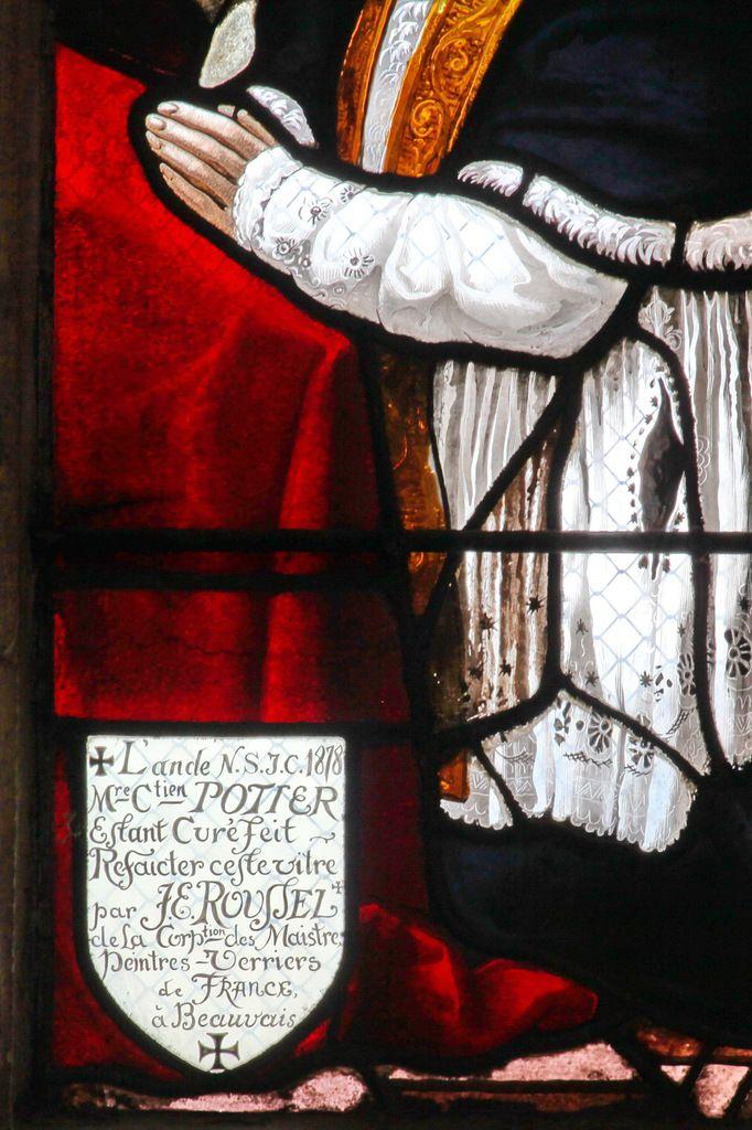 Lancette D (détail), registre inférieur, baie n°6 du Jugement Dernier, église Saint-Étienne de Beauvais, photographie lavieb-aile.