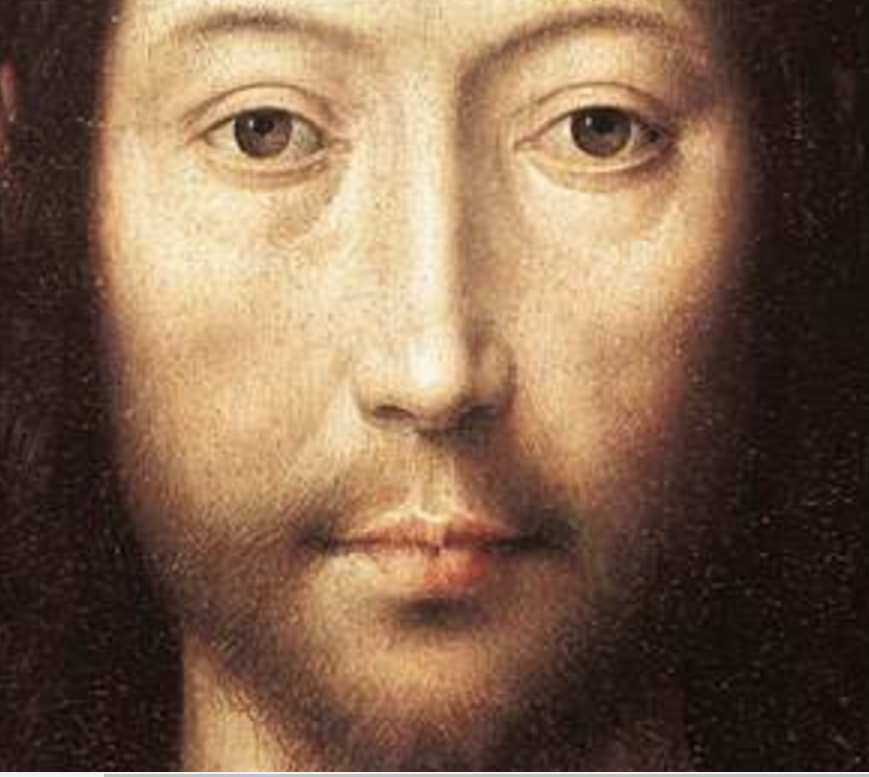 Hans Memling, Le Christ bénissant (détail), 1481, Fine Museum of arts, Boston, https://commons.wikimedia.org/wiki/File:Memling_Christ_giving_blessing.jpg