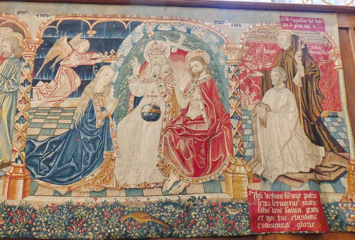 Couronnement de la Vierge, Tenture de la Vie de la Vierge, église Notre-Dame, Beaune. Photographie lavieb-aile.