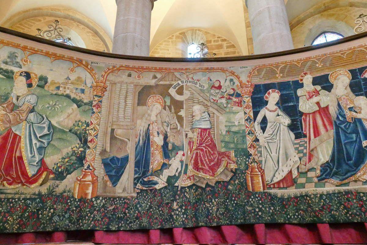 Troisième pièce, Tenture de la Vie de la Vierge, église Notre-Dame, Beaune. Photographie lavieb-aile.