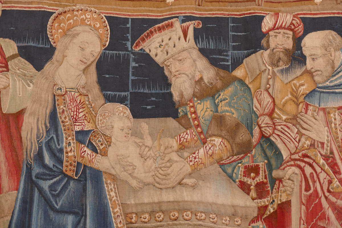 Scène n° 11, Circoncision, Tenture de la Vie de la Vierge, église Notre-Dame, Beaune. Photographie lavieb-aile.