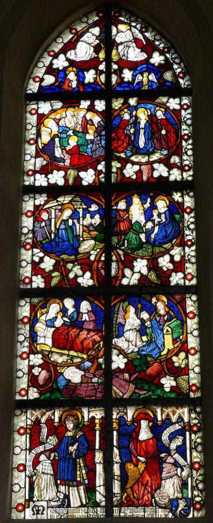 Baie n°7 , Arbre de Jessé et Vie de la Vierge (1466), église Saint-Dominique, Saint-Thann. Photographie lavieb-aile.
