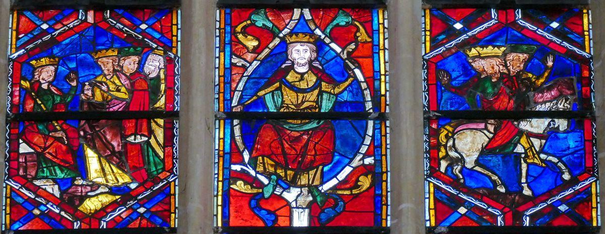 3e registre, baie 202, Arbre de Jessé et Enfance du Christ, cathédrale Saint-Gatien de Tours, photographie lavieb-aile.