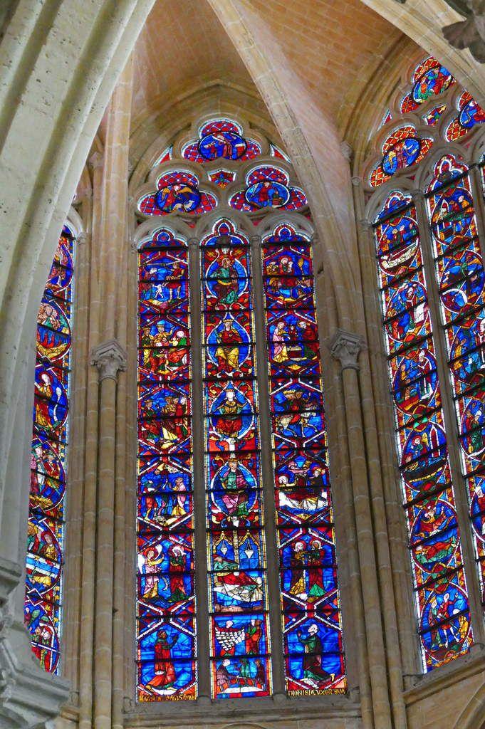 Baie 202, Arbre de Jessé et Enfance du Christ, cathédrale Saint-Gatien de Tours, photographie lavieb-aile.