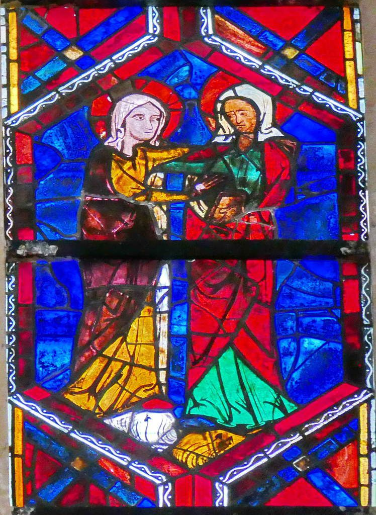 Visitation, baie 202, Arbre de Jessé et Enfance du Christ, cathédrale Saint-Gatien de Tours, photographie lavieb-aile.