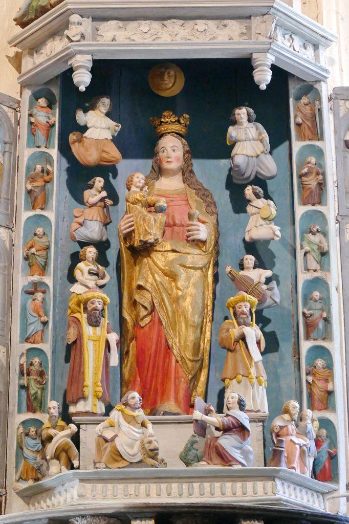Retable de la Vierge, Notre-Dame du Crann (Spézet), photographie lavieb-aile.